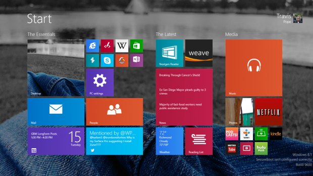 The ThinkPad Yoga comes with Windows 8.1.