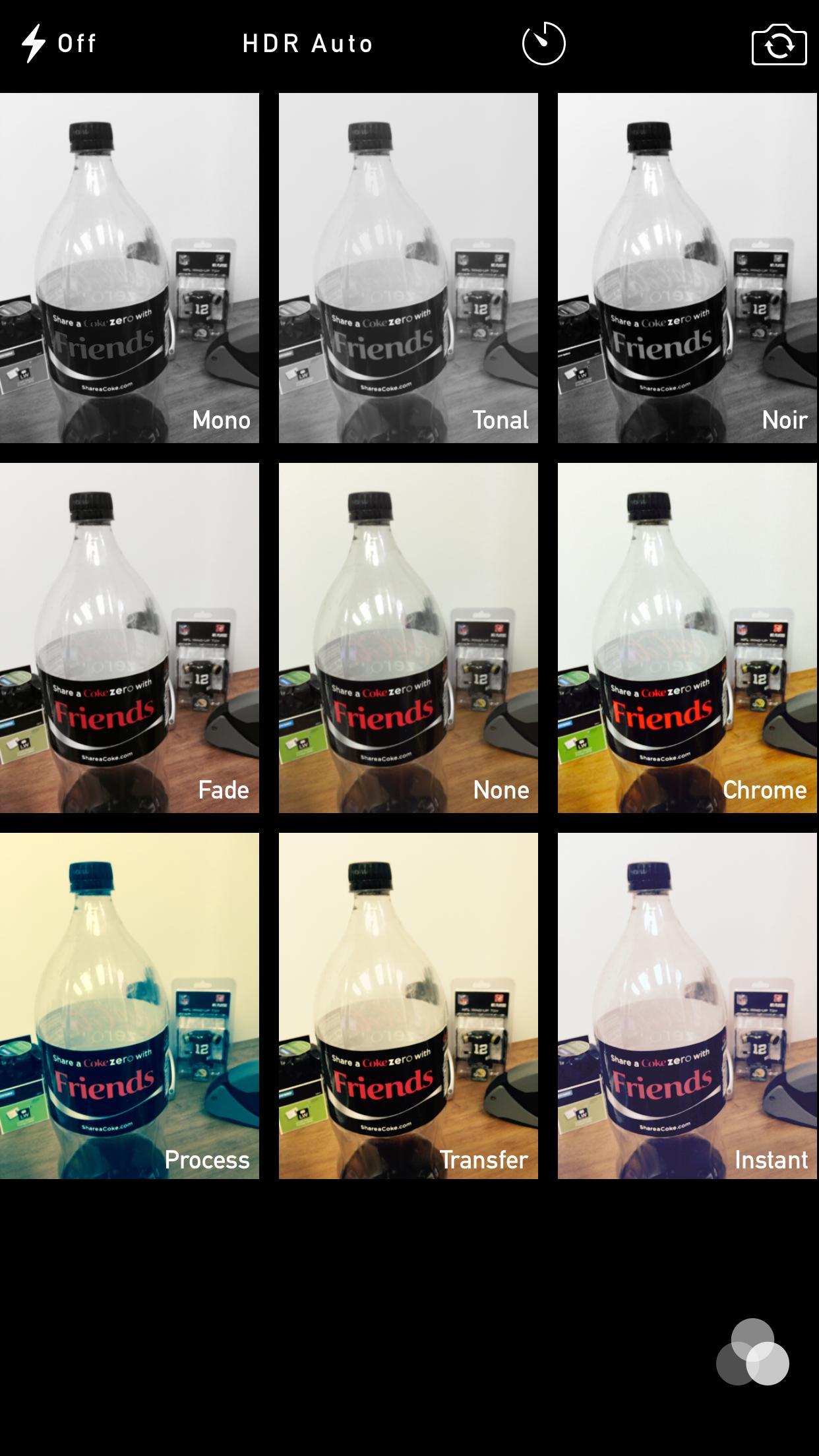 iphone 6 plus camera live filters