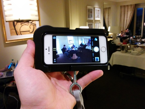 The iPhone 5s in an mCAMLITE is a great iPhone accessory for photos and video.