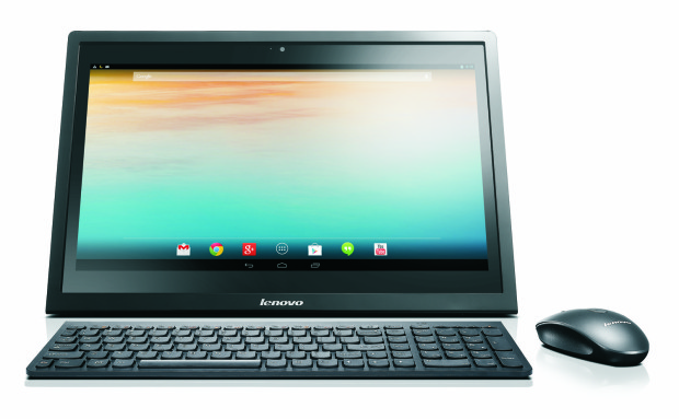 The Lenovo N308 running Google's Android operating system.