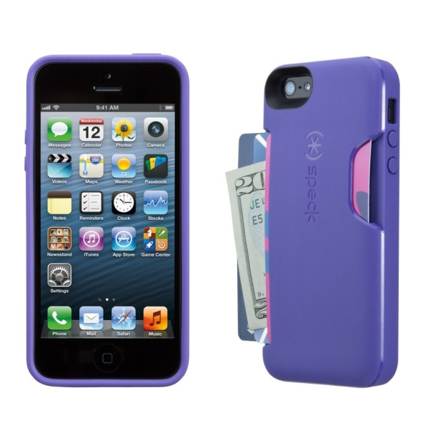 A colorful iPhone 5 wallet case option.