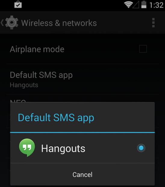 disable-hangout
