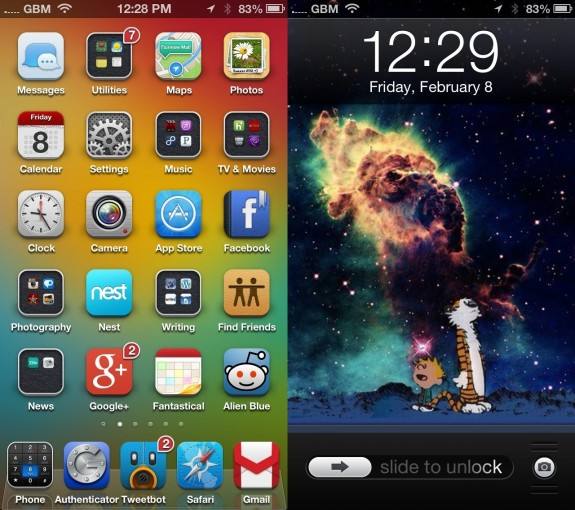 The iOS 7 Cydia themes should start appearing soon thanks to a iPhone 5s WinterBoard update for iOS 7.