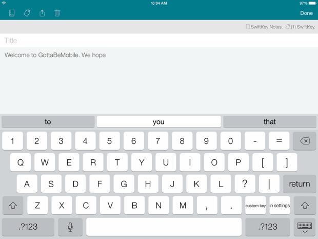 SwiftKey Note for iOS