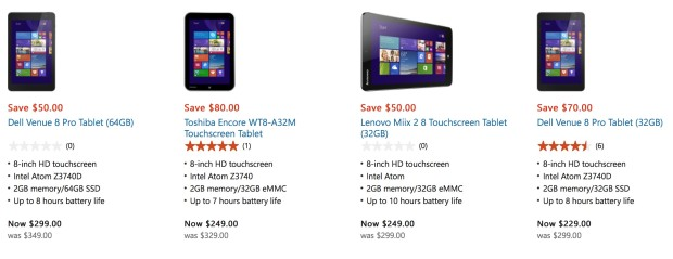 windows 8 tablets at microsoft store