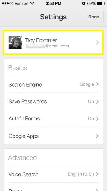Tap Account (iPhone)
