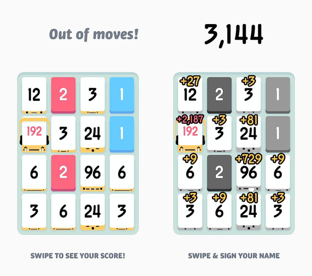 Watch out for big numbers that are not close enough to match or move.