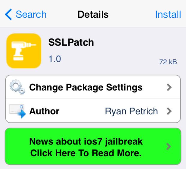 iOS 7 Jailbreak SSL Fix