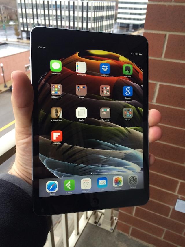 The iOS 7.0.6 update runs well on the iPad Mini Retina.