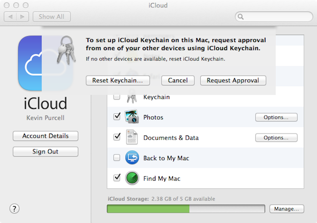 icloud keychain approval