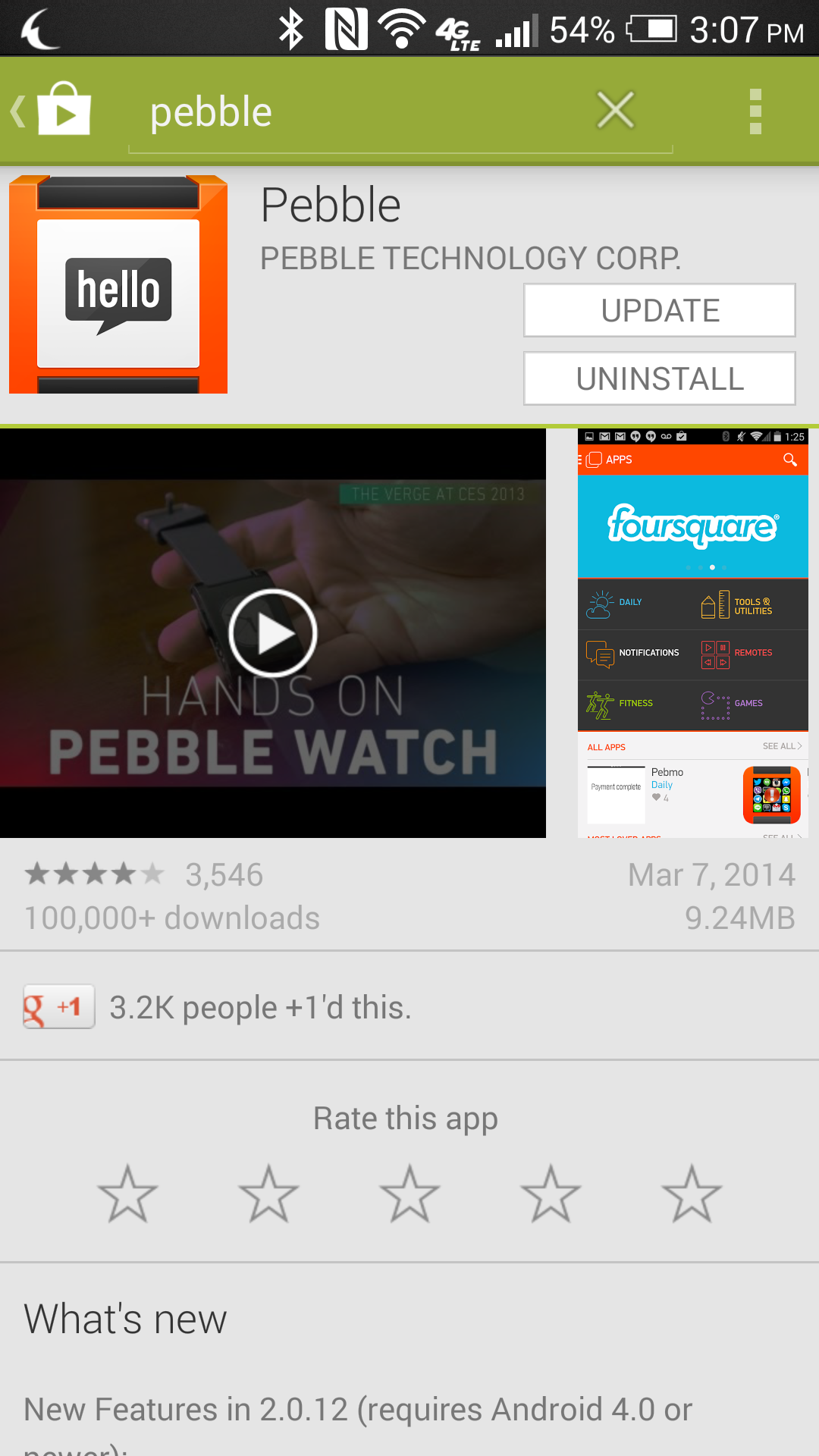 pebble 2.0 for ndroid