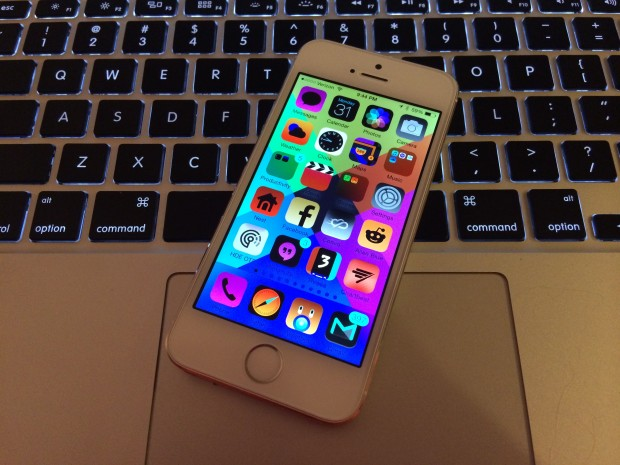 Invert colors for a broken iPhone prank.