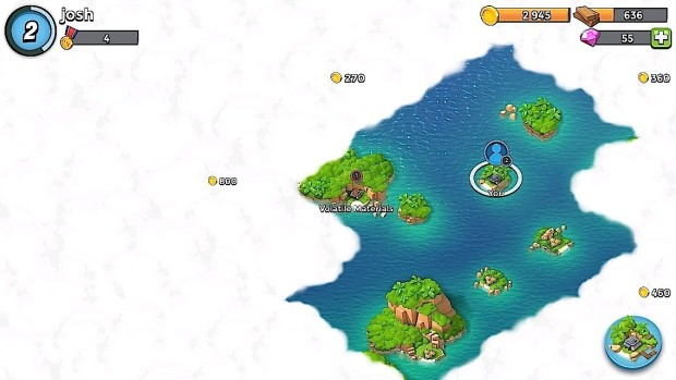 Use the Boom Beach radar to open up more of the world.