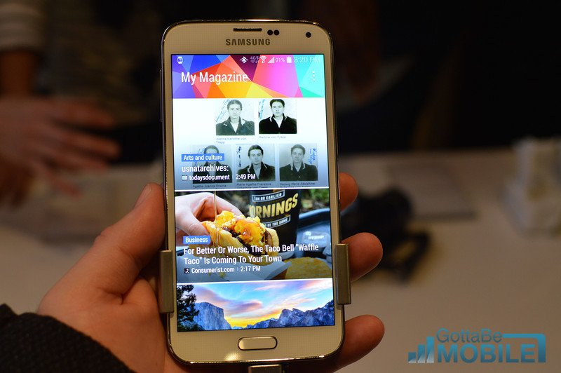 The Galaxy S5 display is bright, accurate and power efficient.