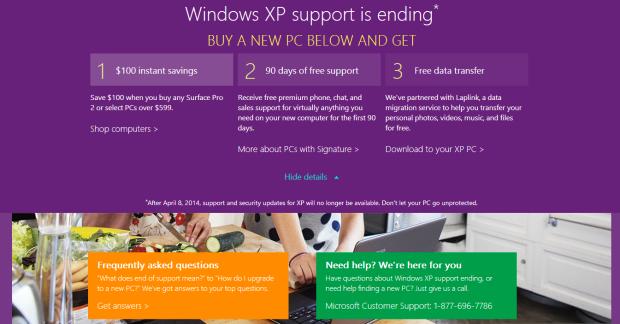 Microsoft Store Windows XP Deal