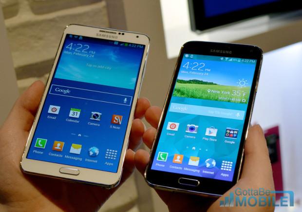 Samsung Galaxy S5 vs Galaxy Note 3 - 8-L