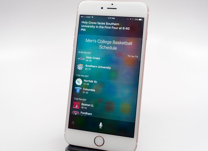 Use Siri to check Sports data and info.