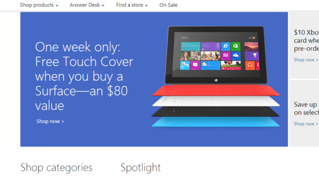 Surface Touch Cover Deal