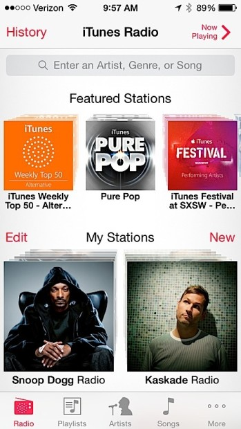 Search faster to create stations in iTunes Radio.