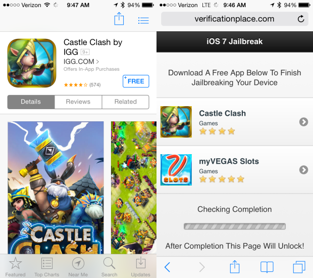 The 7jailbreak service offers app downloads, instead of an iOS 7.1 jailbreak download.