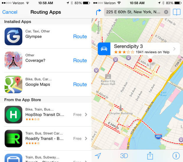 Expect improved transit options in iOS 8.