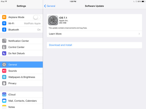 The iOS 7.1 release is here for iPhone and iPad users.
