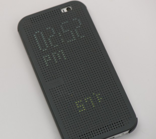 Use motion gestures and the HTC One M8 Dot case for a better experience.