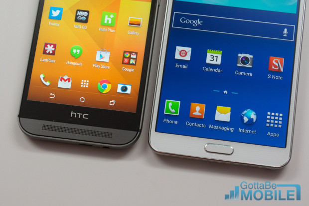 New HTC One M8 vs - Note3 16-X3