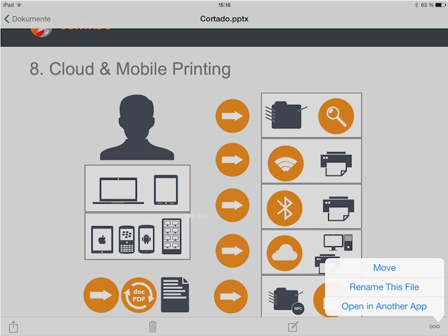 How to Print Office for the iPad Documents