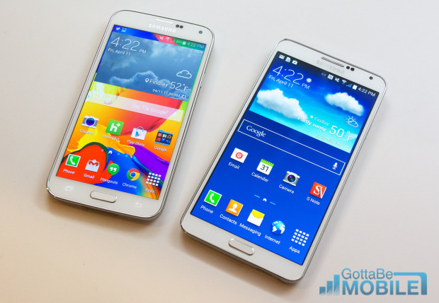 Samsung Galaxy S5 vs Galaxy Note 3 -  Screen Quality