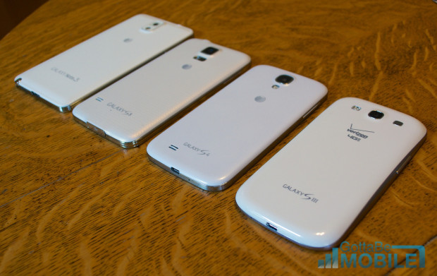 Samsung Galaxy S5 vs Galaxy S4 vs Galaxy S3 - Build Quality