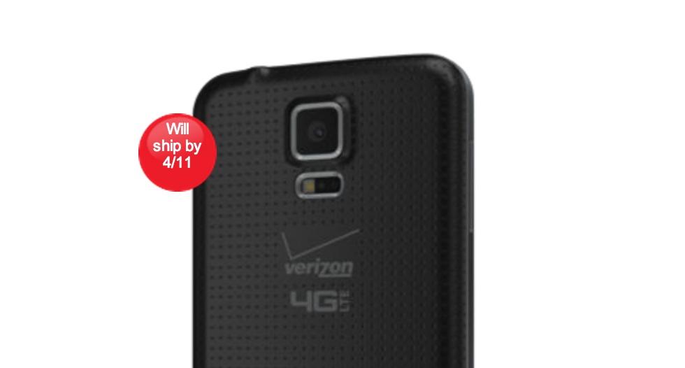 The Verizon Galaxy S5 pre-orders are live.