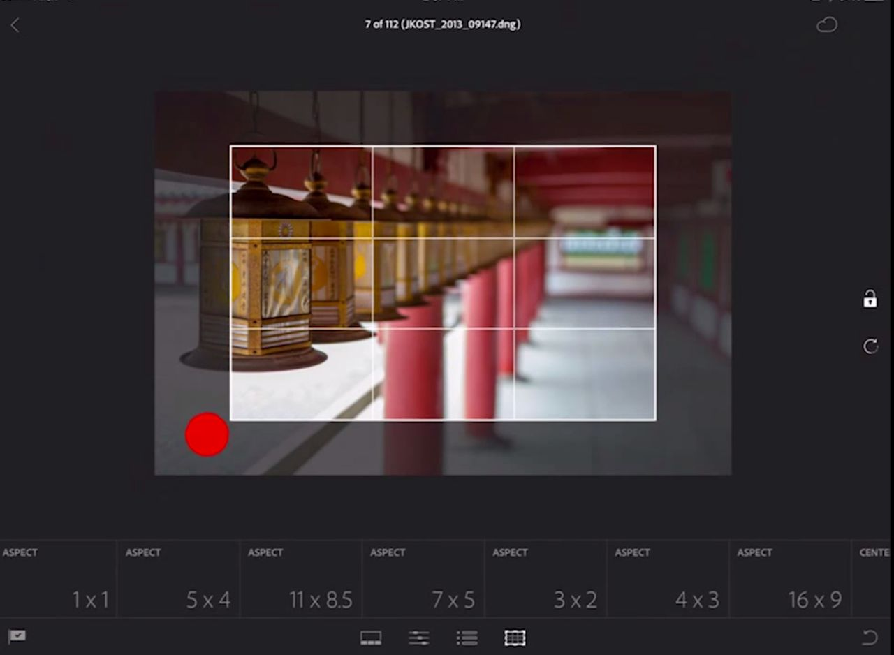 editing in lightroom mobile