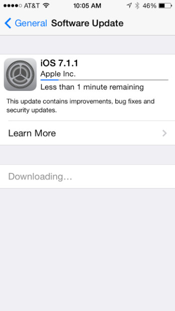 iOS 7.7.1 landed today for the iPhone 5.