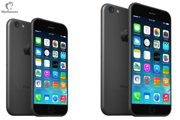 A 4.7-inch iPhone 6 concept vs. 5.7-inch iPhone 6 concept.