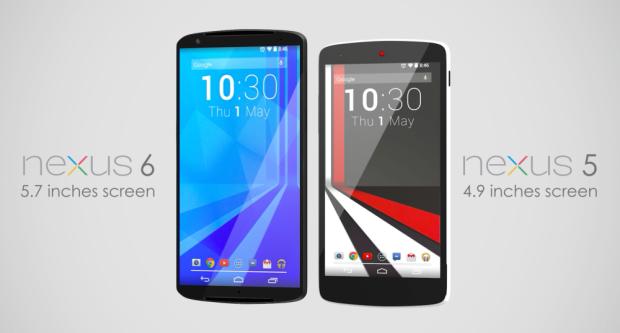 Nexus 6 concept vs. Nexus 5.