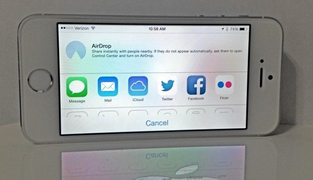 Let the user pick the apps to see in sharing and allow for new default apps in iOS 8.