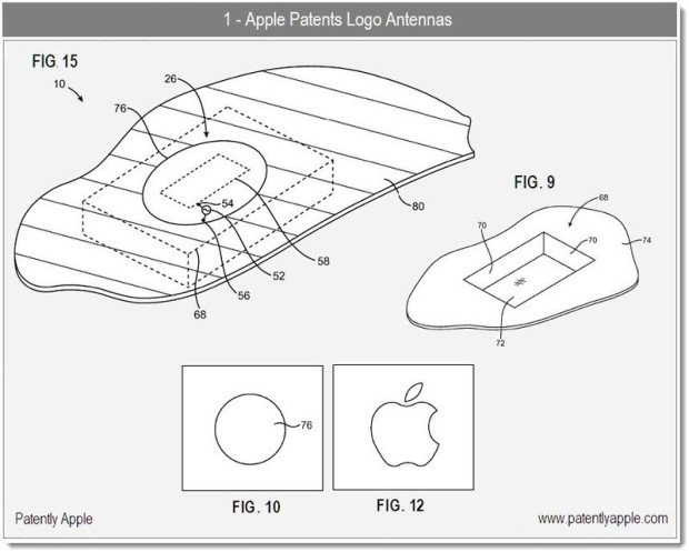 An Apple logo could act as part of antenna design.
