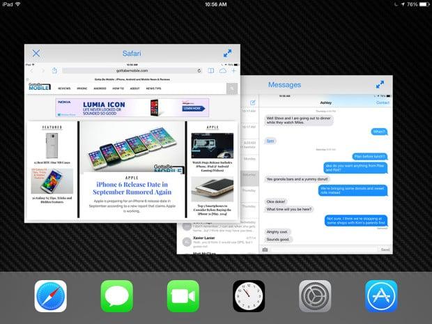 We could see iOS 8 deliver split-screen multitasking.