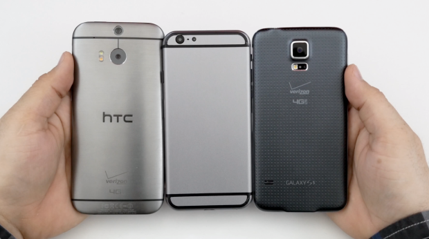 This is how the iPhone 6 could size up next to the Galaxy S5 and HTC One M8.