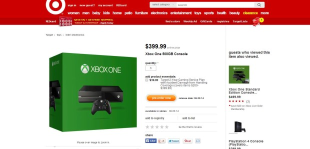 target xbox one