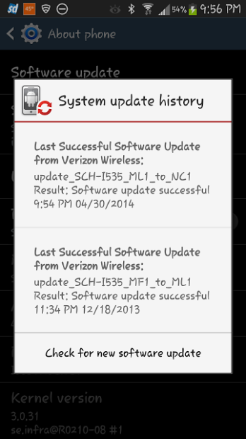The Verizon Galaxy S3 just got a new update but it isn't Android 4.4.