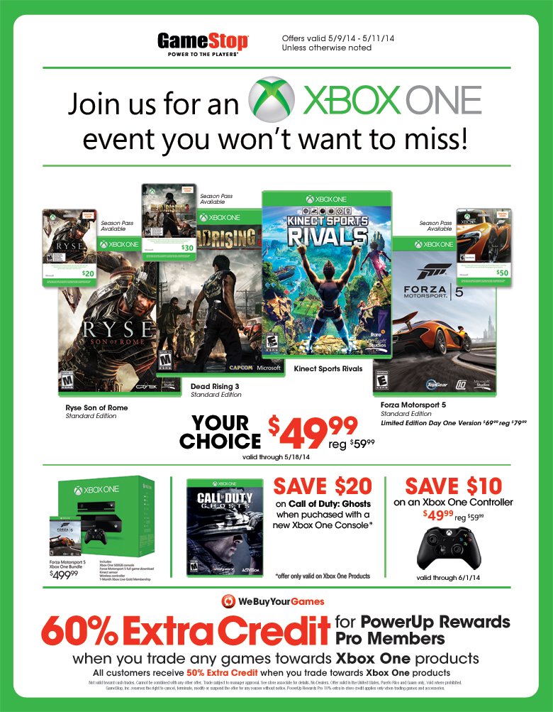 Xbox One Games On Sale : Gamestop delivers blockbuster xbox one deals