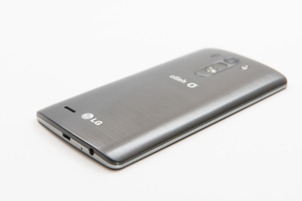 LG G3 Review:  A metallic pattern on its plastic back cover