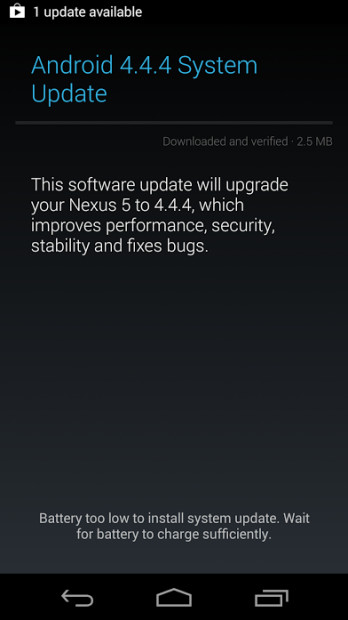 Google's Android 4.4.4 KitKat roll out is pushing on today.