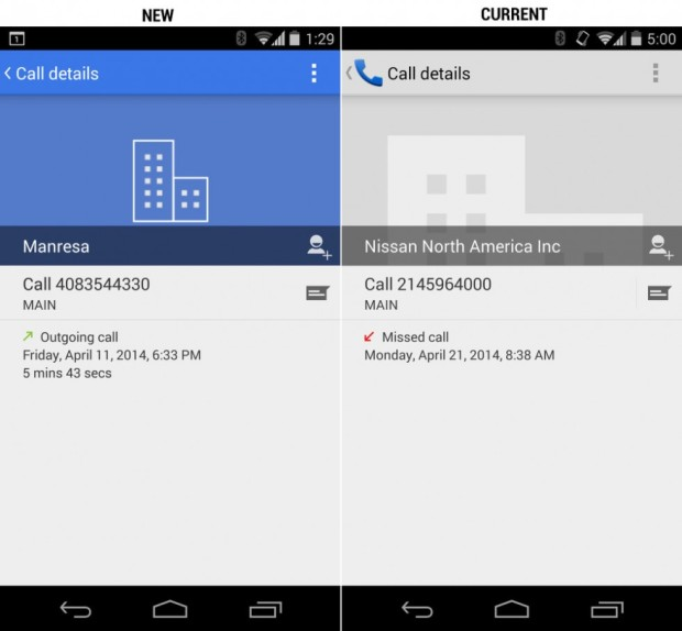 The new dialer in Android 4.4.3.