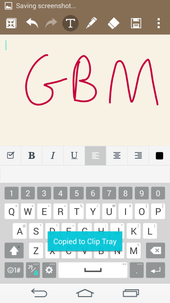 LG G3 Review: QMemo+ app for note taking