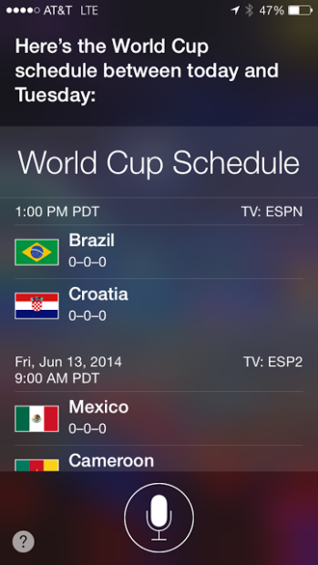 Use Siri to follow the World Cup.