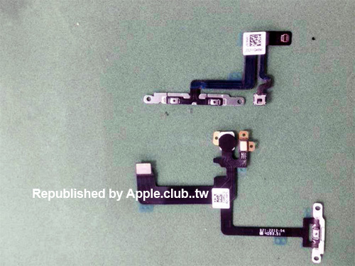 Flex cables reportedly for the iPhone 6 with a 5.5-inch screen.
