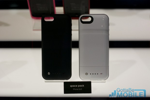The iPhone 5s and iPhone 5 Mophie Space pack can double your storage.
